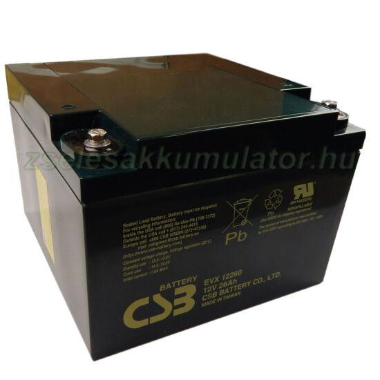 CSB 12V 26Ah Zselés Akkumulátor EVX 12260