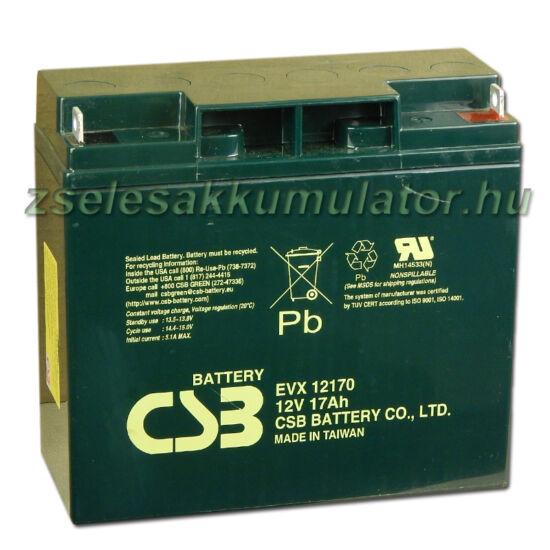 CSB 12V 17Ah Zselés Akkumulátor EVX 12170