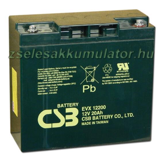 CSB 12V 20Ah Zselés Akkumulátor EVX 12200