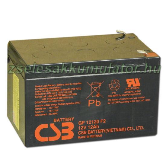 CSB 12V 12Ah Zselés Akkumulátor GP 12120 F2