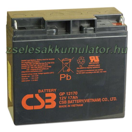 CSB 12V 17Ah Zselés Akkumulátor GP 12170