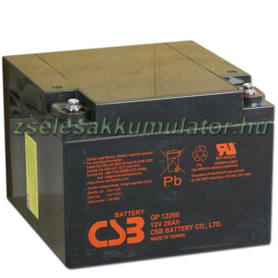 CSB 12V 26Ah Zselés Akkumulátor GP 12260