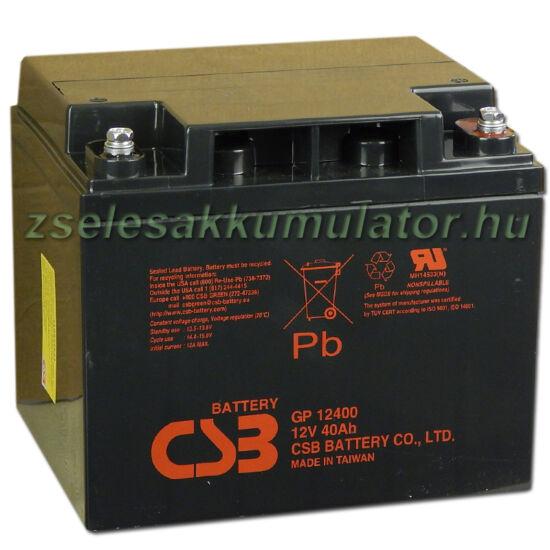 CSB 12V 40Ah Zselés Akkumulátor GP 12400