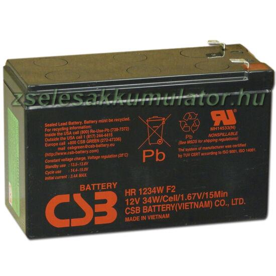 CSB 12V 9Ah Zselés Akkumulátor HR 1234W F2