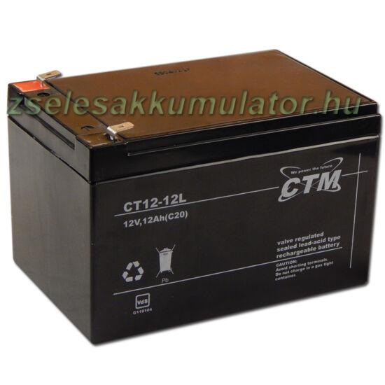 CTM12V 12Ah Zselés akkumulátor CT12-12L