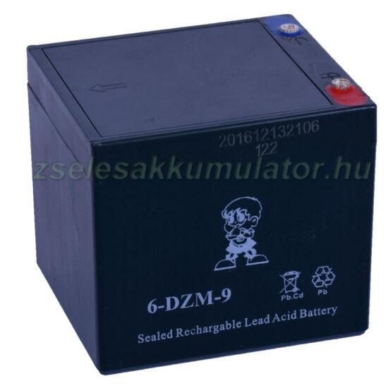 6-DZM-9 12V 9Ah Ciklikus zselés akkumulátor elektromos kerékpárba