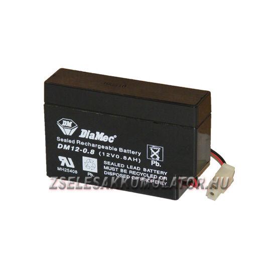 Diamec 12V 0,8Ah Zselés akkumulátor