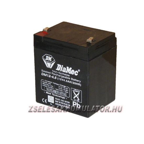 Diamec 12V 4,5Ah Zselés akkumulátor