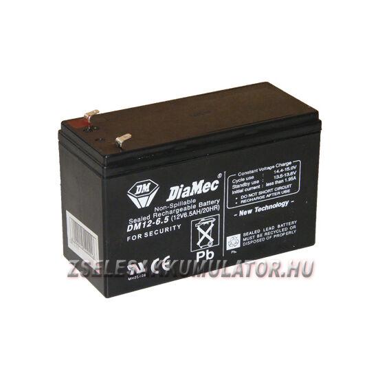 Diamec 12V 6,5Ah Zselés akkumulátor