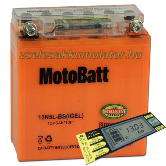 MotoBatt IGEL 12N5L-BS I-GEL12V 5Ah Motor akkumulátor