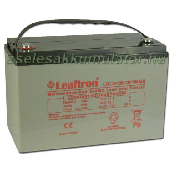Leaftron 12V 100Ah Ciklkus Zselés Akkumulátor LTC12-100