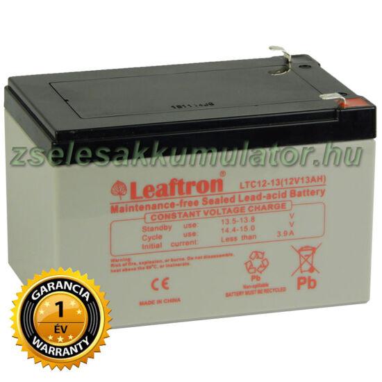 Leaftron 12V 13Ah Ciklkus Zselés Akkumulátor elektromos kerékpárba LTC12-13 F2