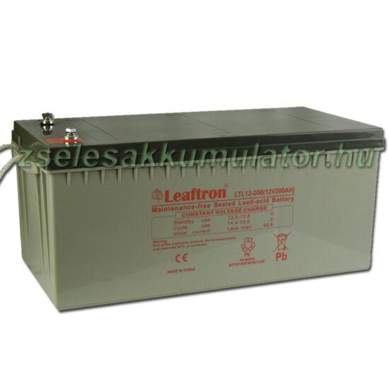 Leaftron 12V 200Ah Zselés akkumulátor LTL12-200