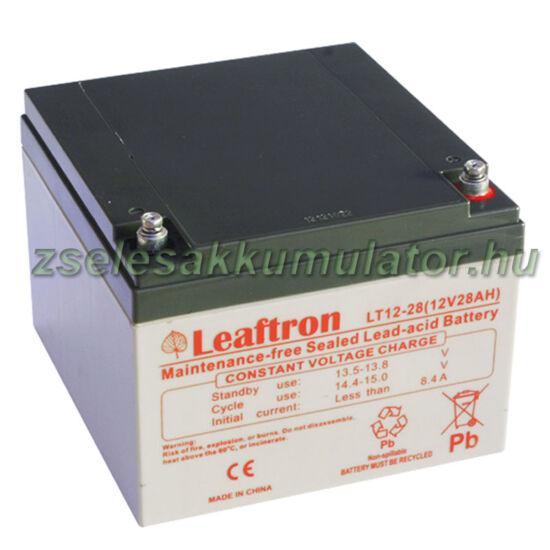 Leaftron 12V 28Ah  Zselés akkumulátor LT12-28