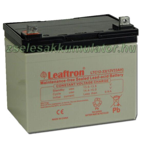 Leaftron 12V 33Ah Ciklkus Zselés Akkumulátor LTC12-33