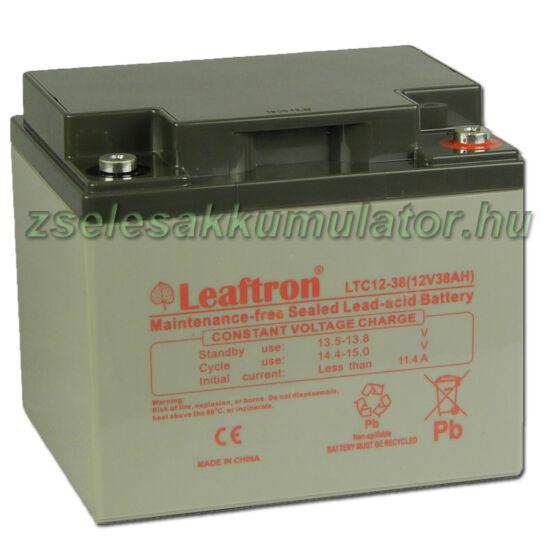 Leaftron 12V 38Ah Ciklkus Zselés Akkumulátor LTC12-38