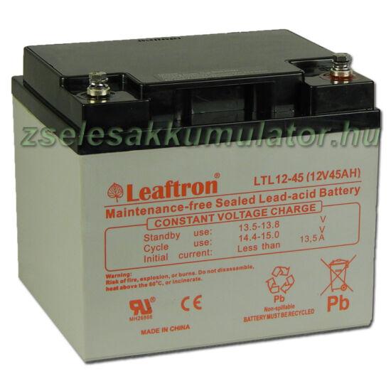 Leaftron 12V 45Ah Zselés akkumulátor LTL12-45