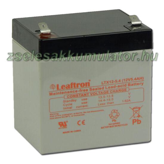 Leaftron 12V 5,4Ah  Zselés akkumulátor LTX12-5,4 F2