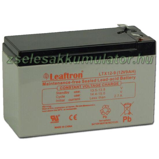 Leaftron 12V 9Ah Zselés akkumulátor LTX12-9 F2