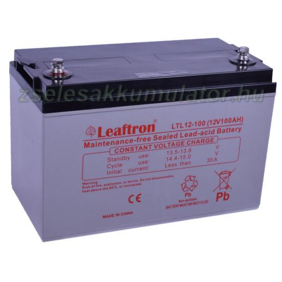 Leaftron 12V 100Ah Zselés akkumulátor LTL12-100