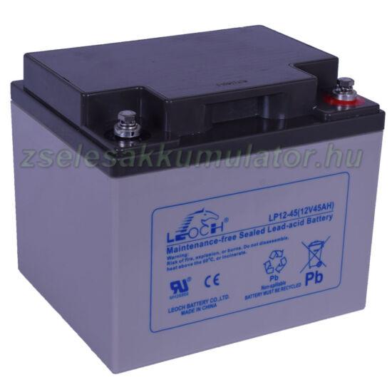 Leoch 12V 45Ah Zselés akkumulátor LP12-45