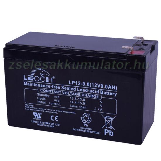 Leoch 12V 9Ah Zselés akkumulátor LP9-12
