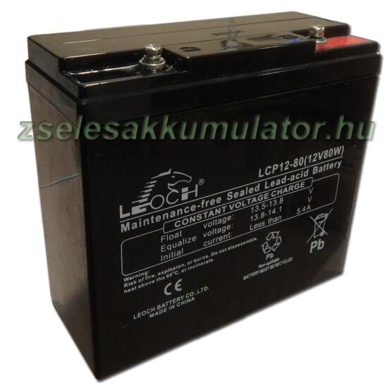Leoch 12V 18Ah Zselés akkumulátor