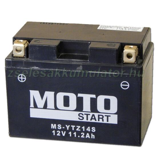 MotoSTART YTZ14S (YTZ14-S)12V 11,2Ah gondozásmentes AGM (zselés) motor akkumulátor