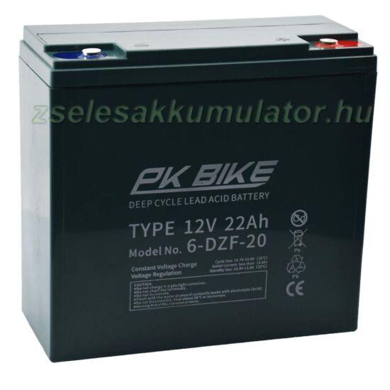 PK BIKE12V 22Ah Ciklikus zselés akkumulátor elektromos kerékpárba