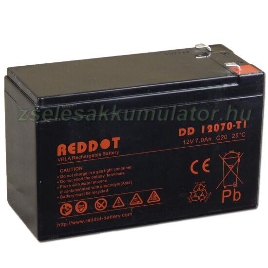 Reddot 12V 7Ah zselés akkumulátor T1