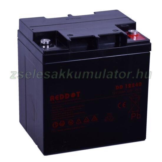 RedDot 12V 24Ah Zselés akkumulátor DD12240