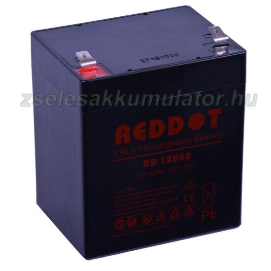 RedDot 12V 5Ah Zselés akkumulátor DD12050
