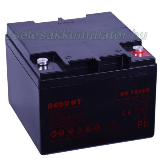 Reddot-12V-26Ah-zselés-akkumulátor-DD12260-1