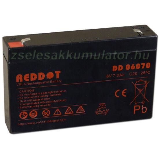 RedDot 6V 7Ah Zselés akkumulátor