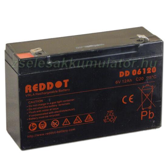 RedDot 6V 12Ah Zselés akkumulátor