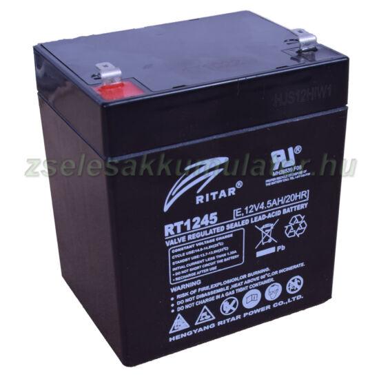 12V 4,5Ah ritar zselés akkumulátor