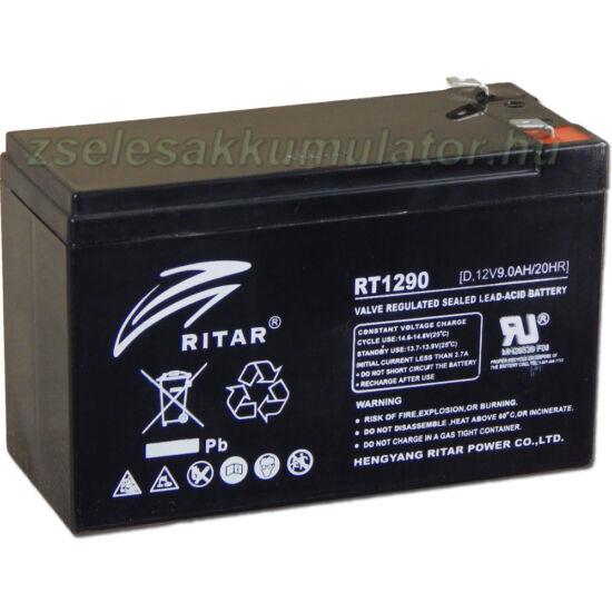 Ritar 12V 9Ah Ciklikus zselés akkumulátor elektromos kerékpárba