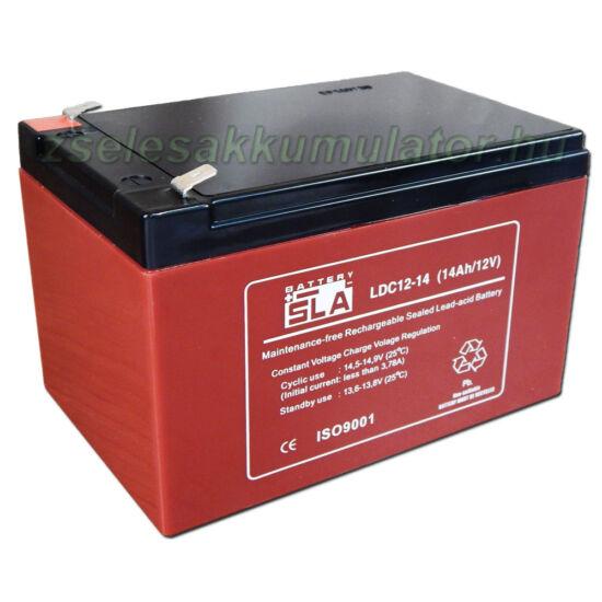 SLA LDC12-14 ciklikus zselés akkumulátor 12V 14Ah