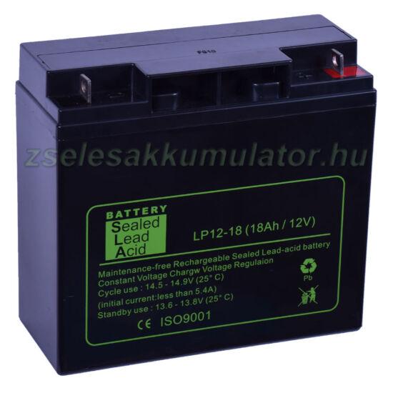 SLA 12V 18Ah Zselés akkumulátor