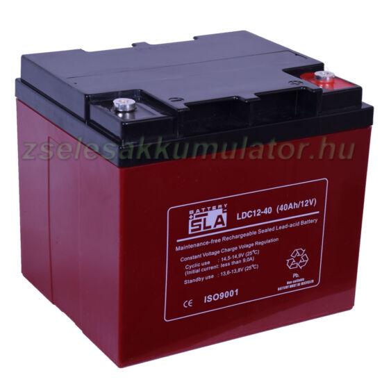 SLA LDC12-40 ciklikus zselés akkumulátor