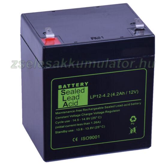 SLA 12V 4,2Ah Zselés akkumulátor