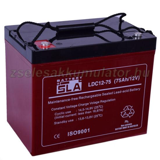 SLA 12V 75Ah Ciklikus Zselés akkumulátor LDC12-75