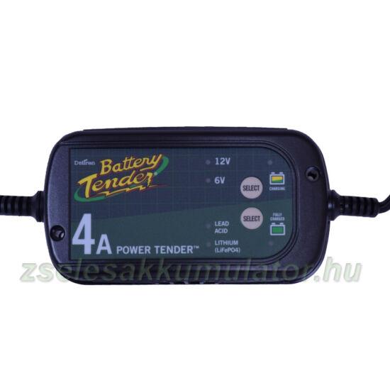 Battery Tender  International Plus 4 AMP , Zselés, ólom savas, AGM, Líthium  akkumulátor töltő 4A töltőáram