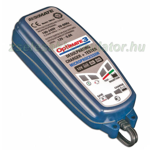 TecMate Optimate 3 akkumulátor töltő