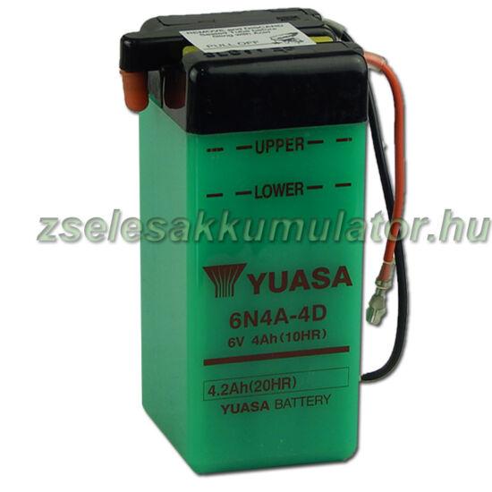 Yuasa 6N4A-4D 6V 4Ah Motor akkumulátor