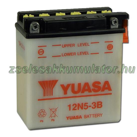 Yuasa12N5-3B 12V 5Ah Motor akkumulátor