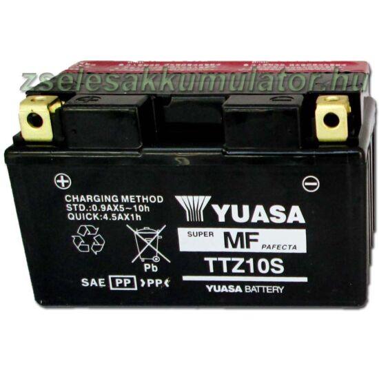 Yuasa TTZ10S-BS 12V 8,6Ah gondozásmentes AGM (zselés) motor akkumulátor