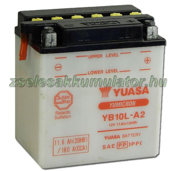 Yuasa YB10L-A2 12V 11Ah Motor akkumulátor