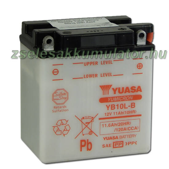 Yuasa YB10L-B 12V 11Ah Motor akkumulátor