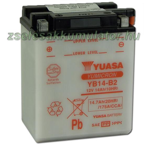Yuasa YB14-B2 12V 14Ah Motor akkumulátor